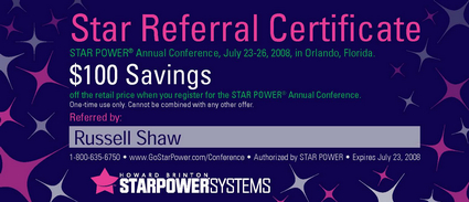 2008 Conference Star Coupon - Russell Shaw