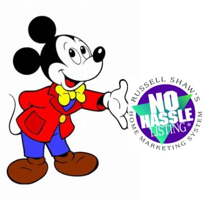 Mickey with logo
